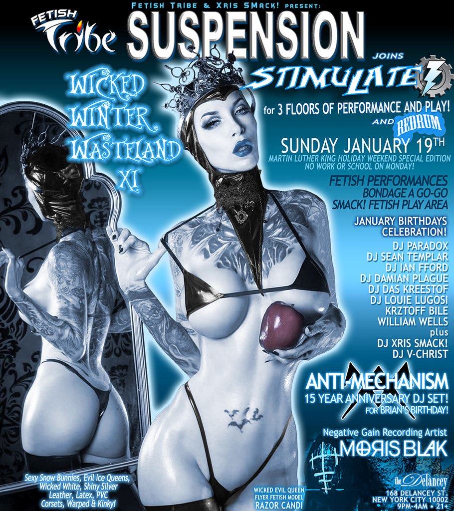 SUSPENSION returns! Sunday Jan. 19th – On the roof top deck!